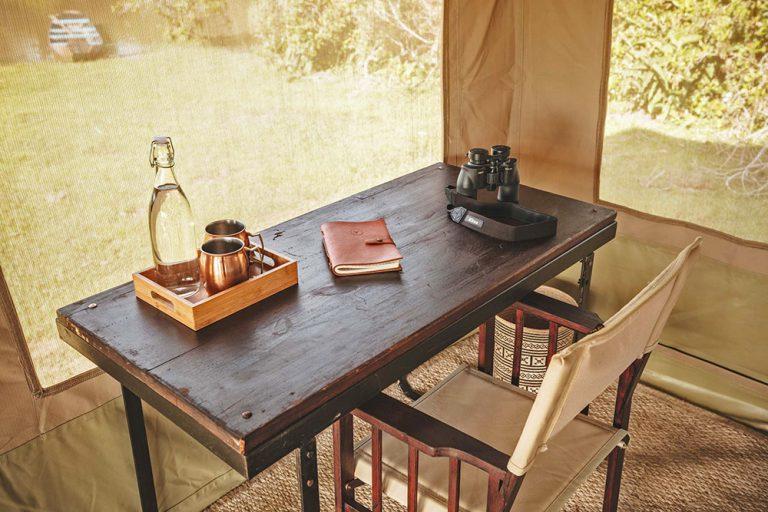 Personal desk in Sleeping tent - Corocora Wildlife Camp