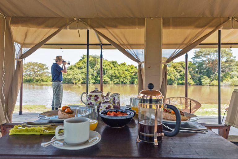 Dining Area in Social tent - Corocora Wildlife Camp